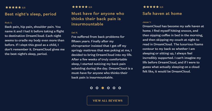 Ce que les gens disent de DreamCloud